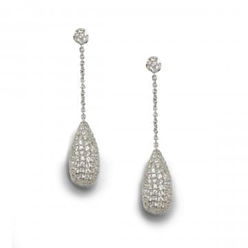 White Sapphire Earrings